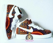 shoes,nike,nike shoes,nike sneakers,tribal pattern,african print,african designs
