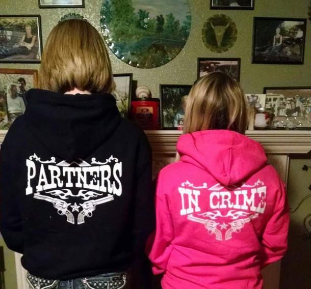 jacket pink and black set of partner in crime jackets
