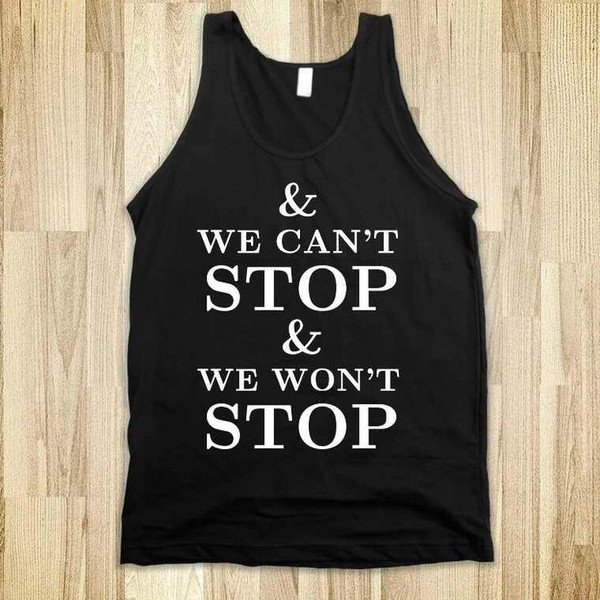 top miley cyrus wecan'tstop black white summer outfits shirt