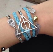 jewels,harry potter,harry potter jewelry,neon blue,hat,tank top