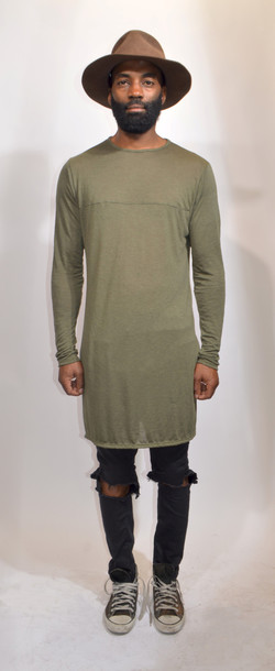 T-shirt: olive green, military style, neutral colors ...