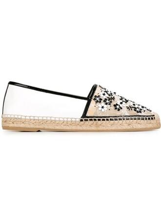 embellished espadrilles lace black shoes