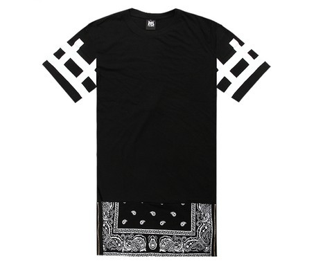 New Hot Top Cease Desist side Zipper Lengthen Bandana Tshirt Men Women Short sleeve T shirt Fashion Trend Dress Short Tee 2014 -inT-Shirts from Apparel & Accessories on Aliexpress.com