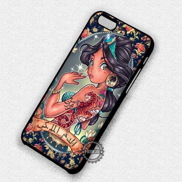 Disney Princess Jasmine Aladdin Tattoo iphone case