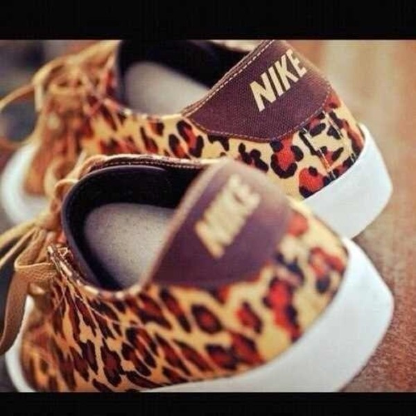 shoes leopard print nike nike sneakers