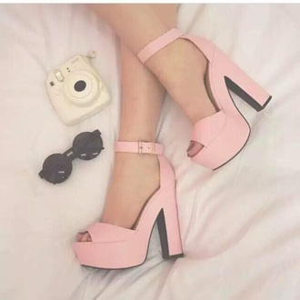 shoes high heels pink shoes trendy