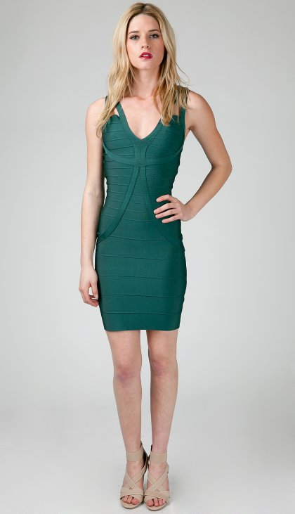 Fitted bandage dress