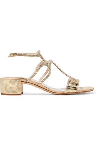 snake metallic embellished sandals leather sandals gold leather satin shoes