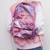 bag,girly,holographic,holographic bag,backpack