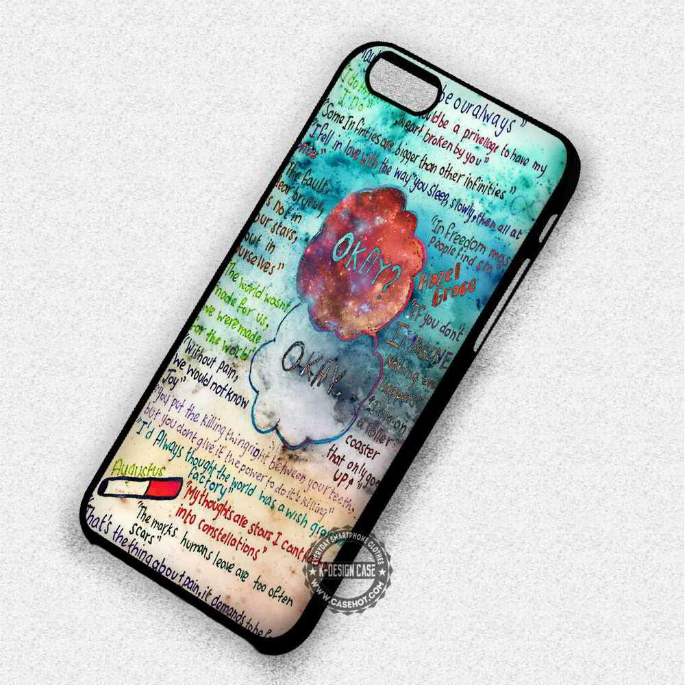 The Fault In Our Stars Galaxy Quote Collage - iPhone 7 6 5 SE Cases & Covers