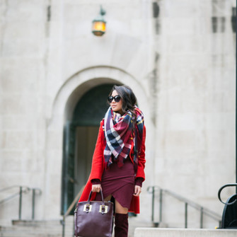 scarf sunglasses blogger red coat wendy's lookbook scarf red