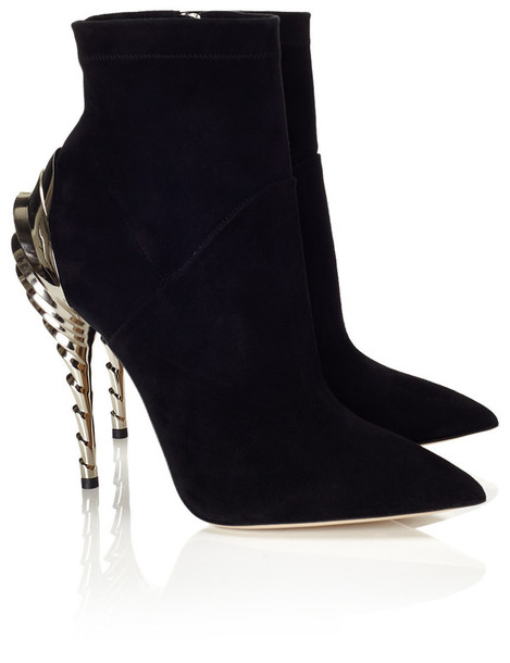 boots ankle boots suede black