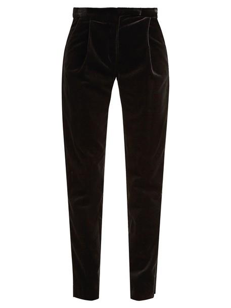 Elie Saab velvet black pants