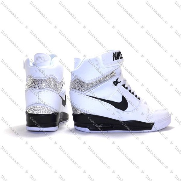 new styles 5016d 2b914 shoes nike swag girl fashion pretty style nike air revolution sky hi  swarovski skyhi sky hi