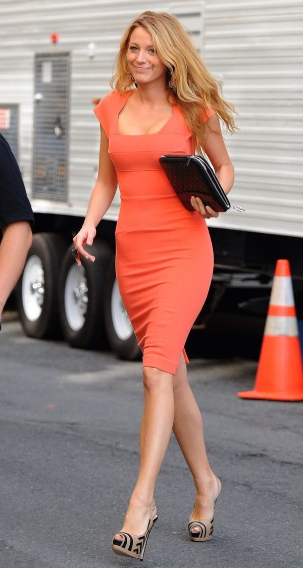 dress gossip girl blake lively serena van der woodsen shoes coral