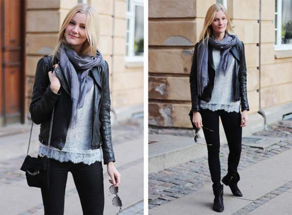 jeans scarf jacket bag shoes t-shirt passions for fashion
