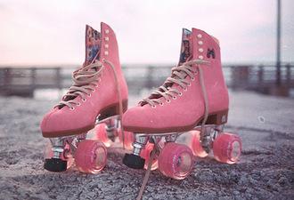 shoes roller skates pink