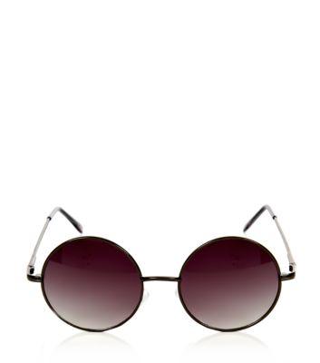 Black Round Frame Sunglasses