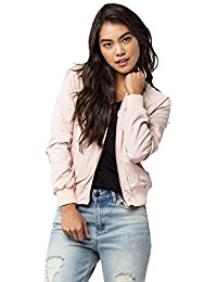 Amazon.com: pink satin bomber - Women: Clothing, Shoes & Jewelry