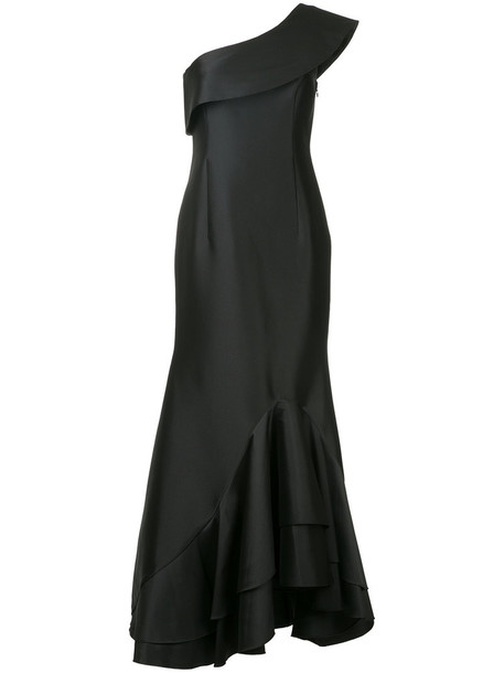 dress ruffle dress ruffle women spandex black