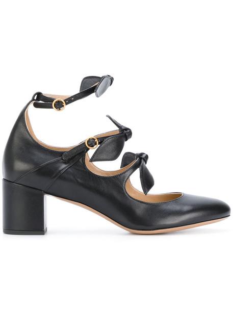 Chloe women pumps leather black shoes