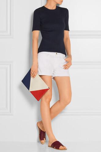 shorts white white shorts denim shorts