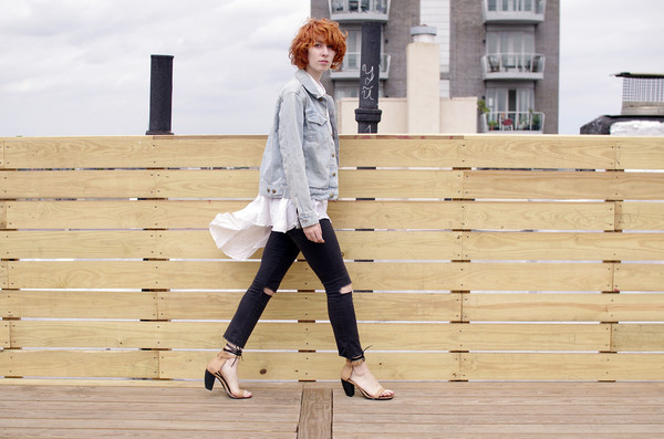 de lune blogger blouse jacket jeans shoes jewels