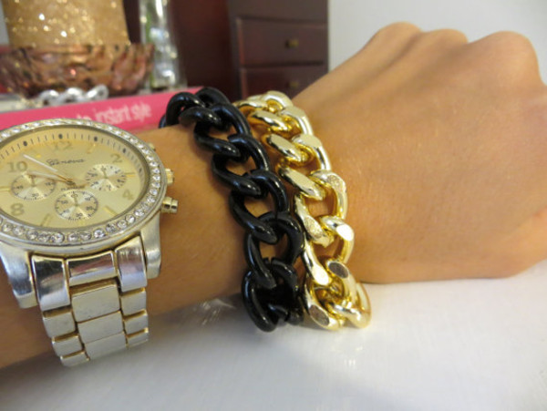 jewels trendy black chain bracelet chain jewelry jewelry fashion jewelry chain bracelet gold chain bracelet wrap bracelet
