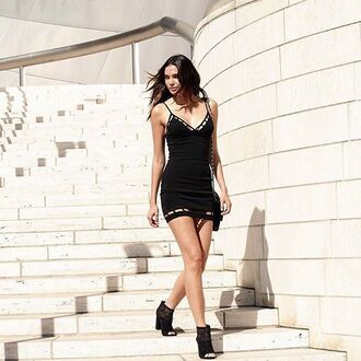 dress black dress little black dress black cut out dress cut-out dress mini dress black mini dress