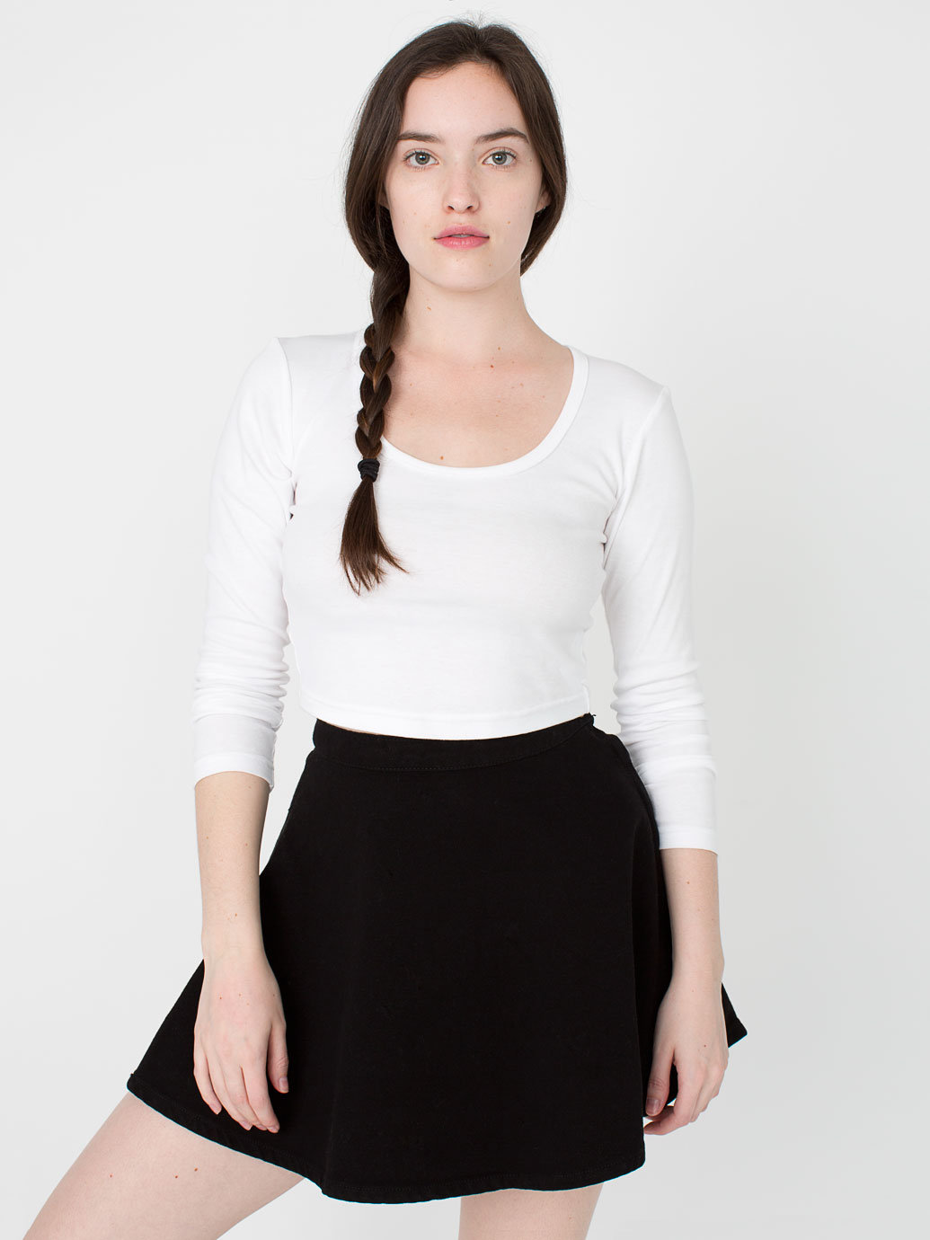 Natural denim circle skirt