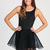 Black Little Black Dress - Black Mesh Party Dress | UsTrendy