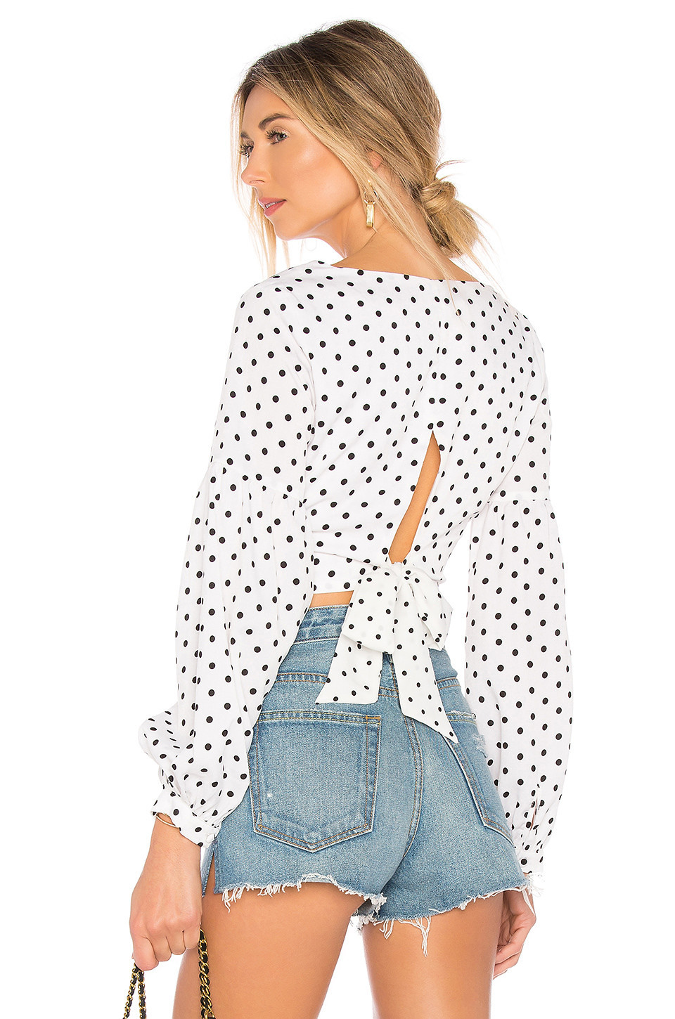 by the way. Yasmin Tie Back Crop Top in white