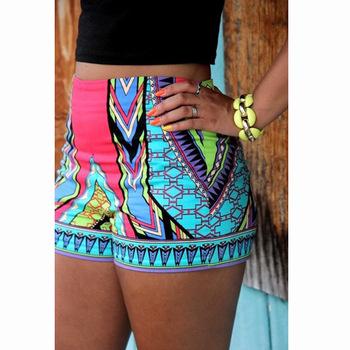 reloj 17145 8cb63 Aliexpress.com: Comprar Summer Shorts mujeres moda bermudas Shorts para  mujeres floral pantalones cortos de cintura elástica falda falda de la  playa ...