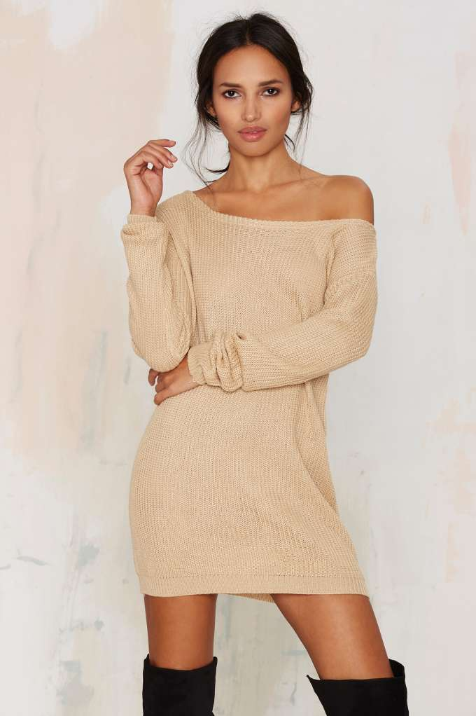 Jordan Knit Dress Beige
