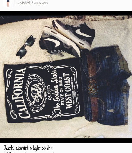 top california the golden state jack daniel's jack daniel's jack daniels shirt cali