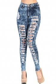 LoveMelrose.com From Harry & Molly | DENIM PANTS - BOTTOMS