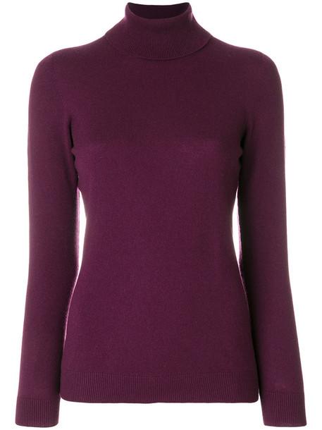 La Fileria For D'aniello jumper turtleneck women purple pink sweater