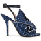 No21 - polka dot sandals - women - silk/leather - 39.5, blue, silk/leather