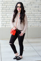 the double take girls,blogger,sweater,belt,jewels,shoes,bag,crossbody bag,loafers,black jeans