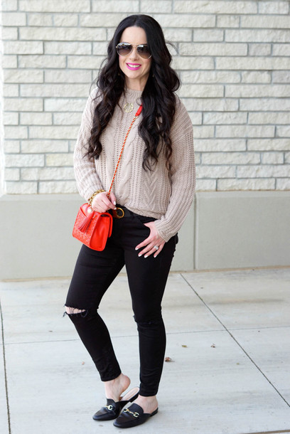 the double take girls blogger sweater belt jewels shoes bag crossbody bag loafers black jeans