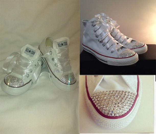 shoes swarovski converse swarovski converse bling shiny swarovski shoes