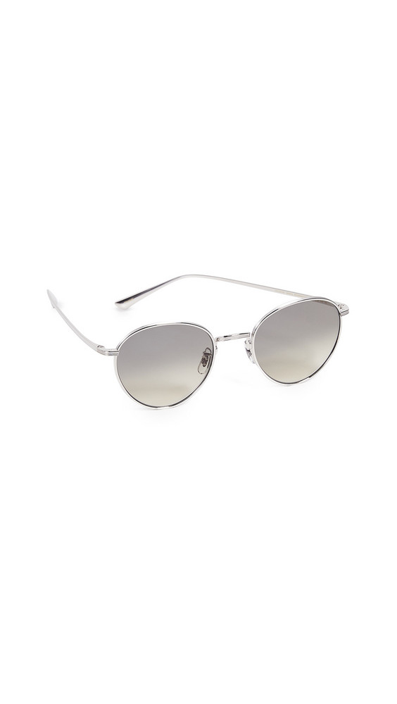 Oliver Peoples The Row Brownstone Sunglasses in silver