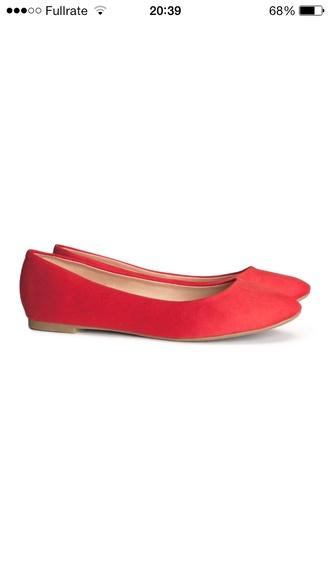 shoes ballet flats coral