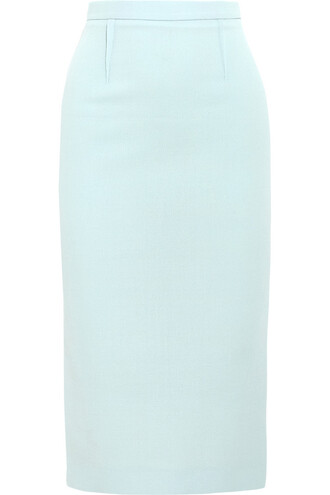 skirt pencil skirt wool blue sky blue
