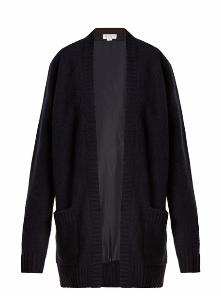 Amanda Wakeley cardigan cardigan back navy sweater