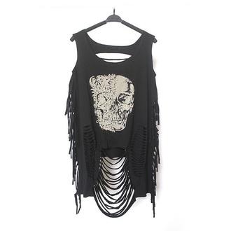 top crop tops skull trendy black fashion style cool musheng