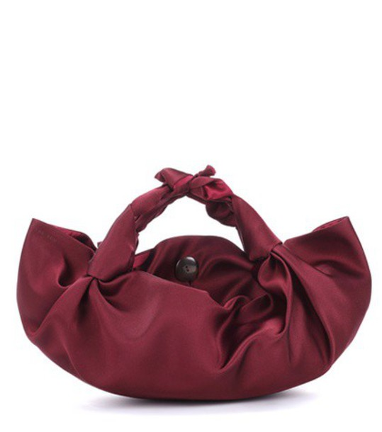 bag shoulder bag silk red