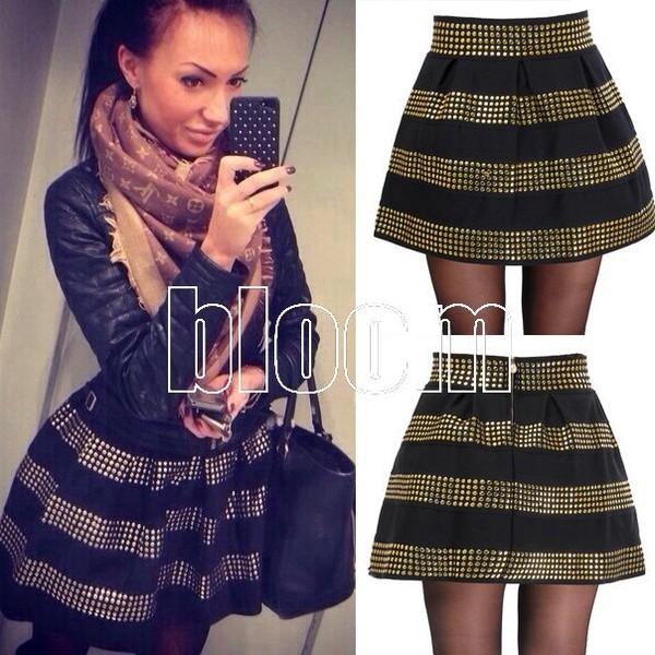 skirt punk dress dress rivet dress cute dress