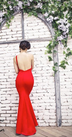 Rosela maxi dress in red