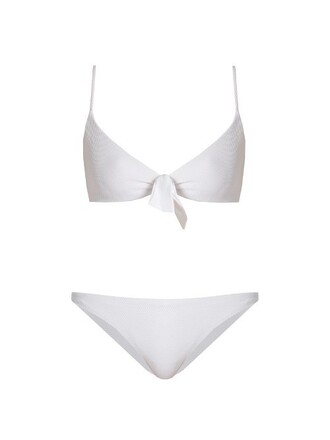 bikini bralette bikini white swimwear